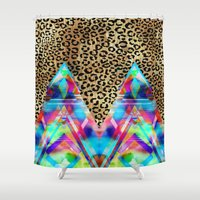 Leopard Prism {A} Shower Curtain