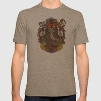 Lord Ganesha Mens Fitted Tee Tri-Coffee SMALL