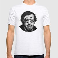 Woody Allen Mens Fitted Tee Ash Grey SMALL