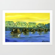 New Hope-Lambertville Bridge Art Print