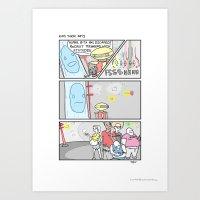 Pow Pow Power Rangers Art Print