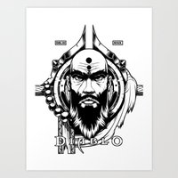Diablo III. Monk Art Print