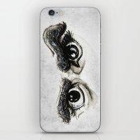 Doubt Black Eyes iPhone & iPod Skin