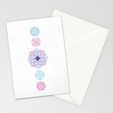 Geometric scream Stationery Cards