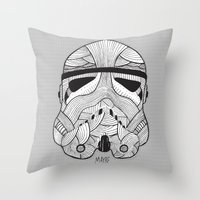 Stormtrooper: Another Drill (grey) Throw Pillow