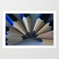 Black N Blue Art Print
