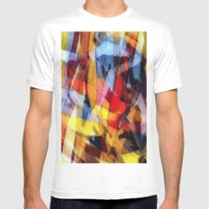 abstrakt 53 color White Mens Fitted Tee SMALL