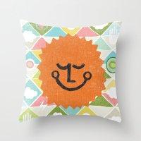 SUNNY TIME Throw Pillow