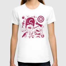 Craptain America Womens Fitted Tee White SMALL