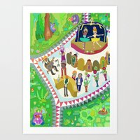 Half Time At The Ballet Art Print