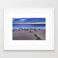 Windy sunset. Sea dreams.... Framed Art Print