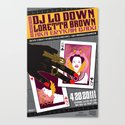 Erykah Badu aka DJ Lo Down Loretta Brown San Francisco Event Poster Canvas Print