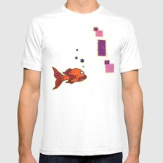 Lil' Orangy White Mens Fitted Tee SMALL