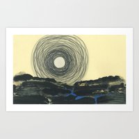Art Print featuring Harvest Moon by Heather Goodwind