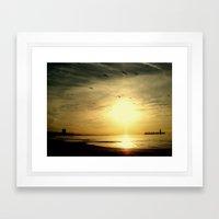 Good Morning Take Flight Framed Art Print