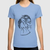 A Kind Of Parrot Womens Fitted Tee Athletic Blue SMALL