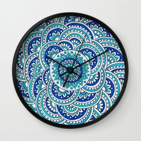 Floral Frost Wall Clock