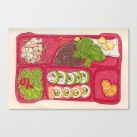 BentoBox Sushi Canvas Print