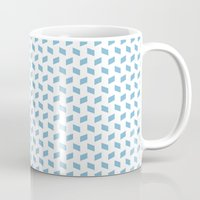 rhombus bomb in dusk blue Mug