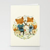 friends Stationery Cards featuring Fox Friends by Teagan White