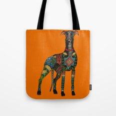greyhound orange Tote Bag