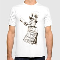 The POPO' Paperboy Mens Fitted Tee White SMALL