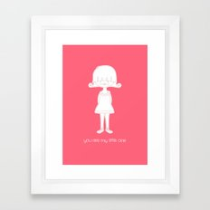 You Are My Little One Girl Framed Art Print