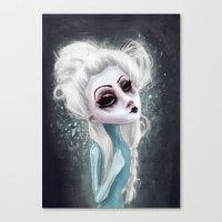 black cold surrounds me Canvas Print