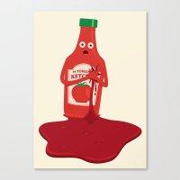 Fake Blood Canvas Print