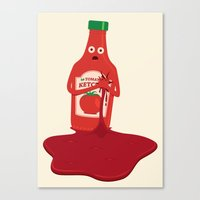 Fake Blood Canvas Print