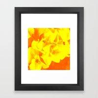 Ali Orange Framed Art Print
