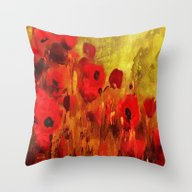 FLOWERS - Poppy Reverie Throw Pillow