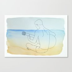 Summer Guitar Canvas Print