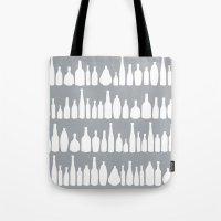 Bottles Grey Tote Bag