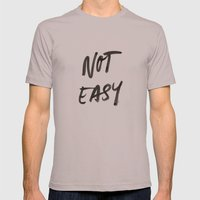 Not Easy Mens Fitted Tee Cinder SMALL