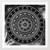 Licorice Mandala Art Print