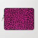 Neon Pink Leopard Laptop Sleeve