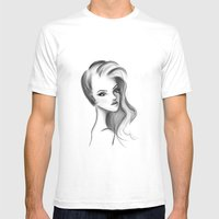 V. Mens Fitted Tee White SMALL