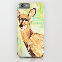 iPhone & iPod Case featuring As A Deer by Raquel Serene
