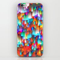 Colorful digital art splashing G392 iPhone & iPod Skin