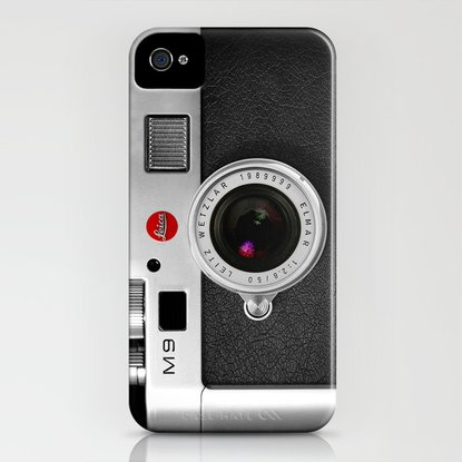 iPhone 4 Case featuring classic retro Black silver Leather vintage camera iPhone 4 4s 5 5c, ipod, ipad case by Three Second