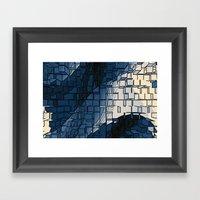 Blockage Framed Art Print
