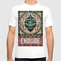 Endure Mens Fitted Tee White SMALL