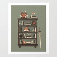 Zelda Shelf // Miyamoto Art Print
