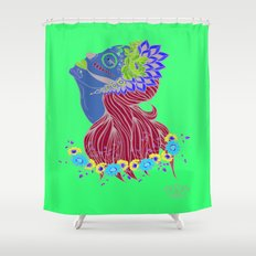 Lady of Death Shower Curtain