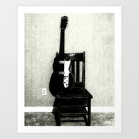 This Chair And Guitar We… Art Print