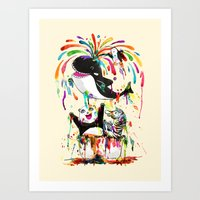 Yay! Whale of a Bath Time! Art Print