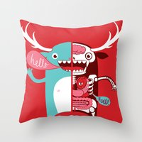 All Monsters Are The Sam… Throw Pillow