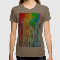 Colors of life : Colors Series 3 Womens Fitted Tee Tri-Coffee SMALL