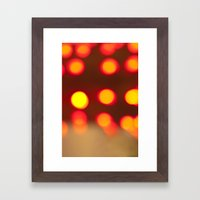 Fiery Lights Framed Art Print